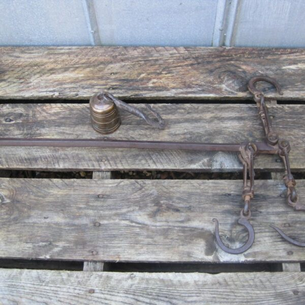 Antique Hand Forged Three Hook Farm Mercantile Scale B9987