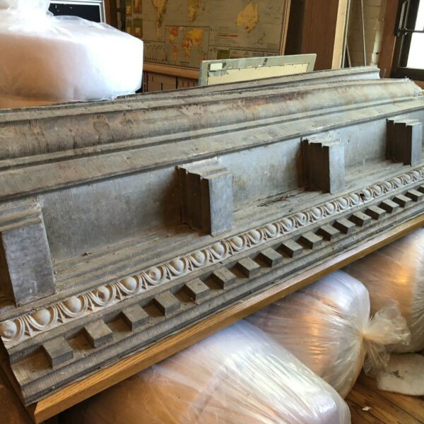 Antique Circa 1890 Outdoor Architectural Zinc Dental Moulding Sections Victorian