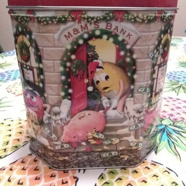 M&M'S   2003  LIMITED EDITION  CHRISTMAS  CANISTER