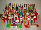 Lot of 81 PEZ Dispensers, Star Wars, Disney, Holiday, Lucy, Snoopy + More