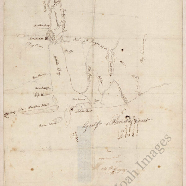 Map of Mobile Bay AL c1800s repro 16x20