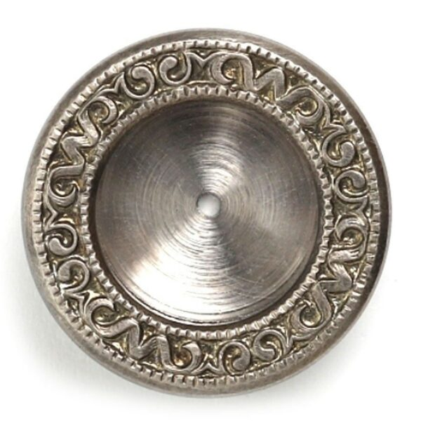 Religious Russian Reliquary Round Relic Keepsake Case Container Nickel 3/8 Inch