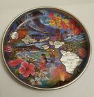 Hawaii State SOUVENIR Hawaiian Islands small  METAL change TRAY MAP 5 1/2""