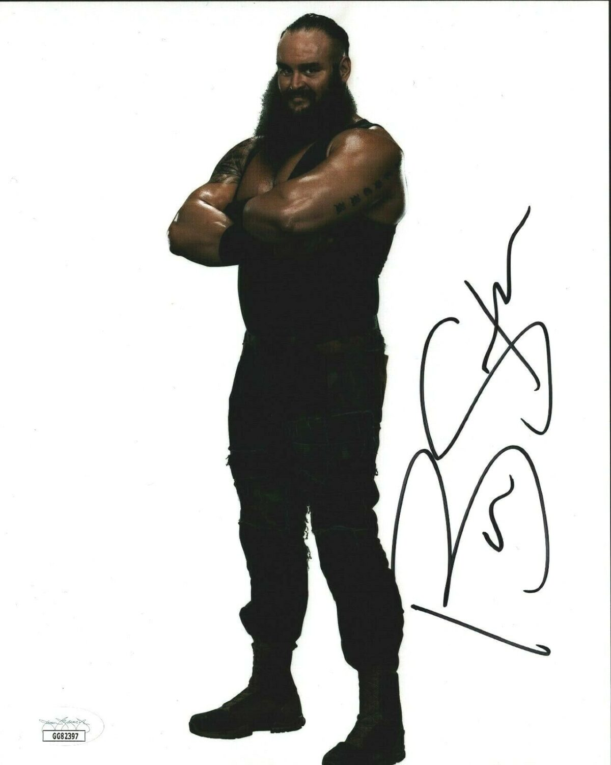WWE 8x10 Photo JSA Certified COA Signed Autographed by Brawn Strowman