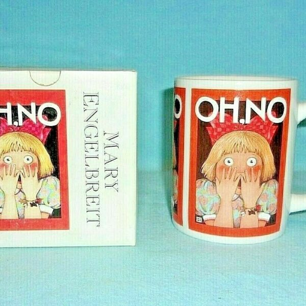 Mary Engelbreit OH NO Ceramic Mug...NEW OLD STOCK...NEW IN BOX