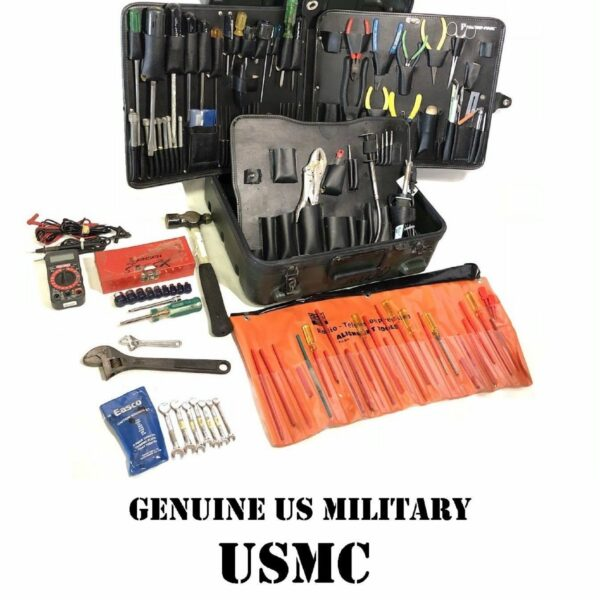US MILITARY TUFF-TECH USMC COMMUNICATIONS ELECTRICIAN TOOL KIT 120+ TOOLS CASE 6