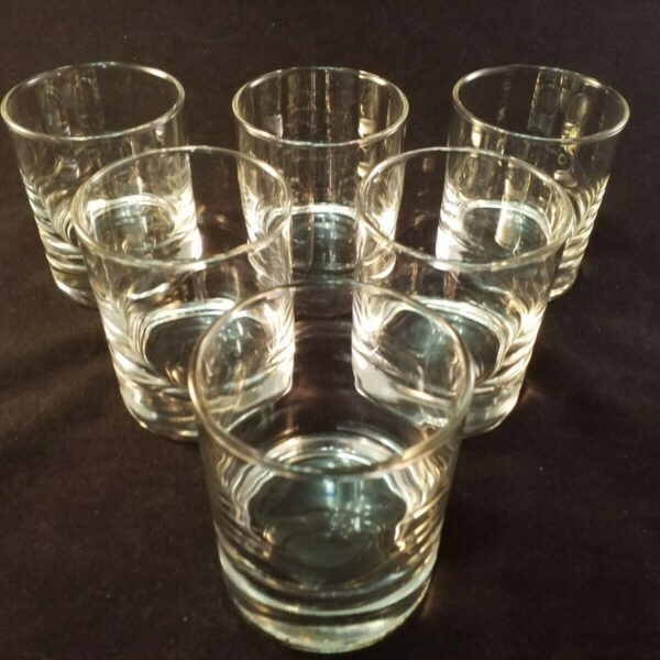 SiX ARCOROC Rock Glass Glasses Barware Scotch Whiskey Made in France 6 3/4  oz