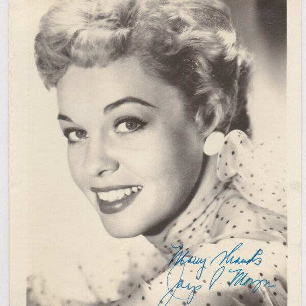 Jaye P. Morgan Signed Autographed B&W Photo Headshot - the Melchior Collection