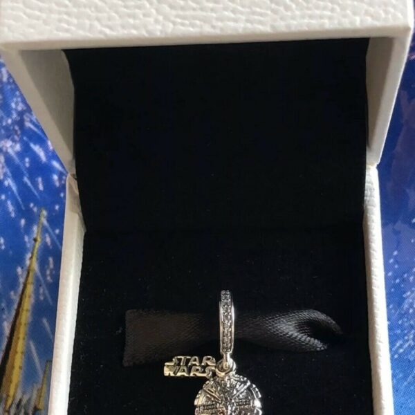 Pandora Disney Star Wars Millennium Falcon Dangle Charm New In Box Authentic