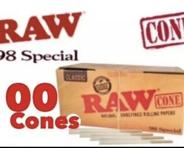 RAW Classic 98 special Size Pre-Rolled Cones(100 Pack) 100%AUTHENTIC