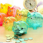 Cute Color Plastic Piggy Bank Coin Money Collectible Saving Box Children Gift US