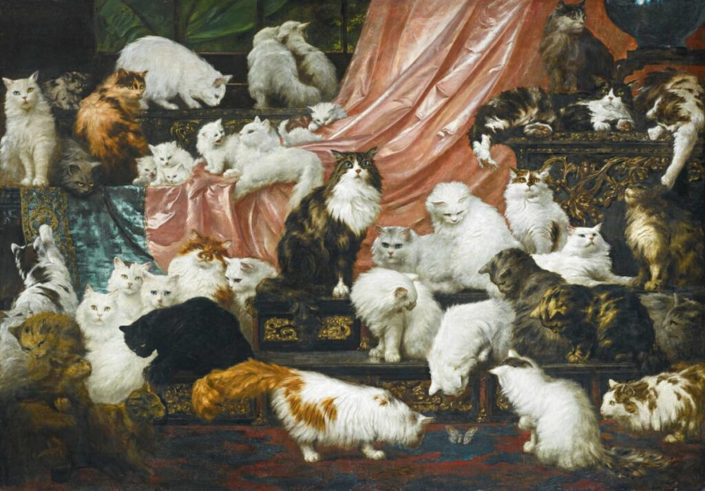 The Story Behind the Famous Cat Painting, My Wife's Lovers