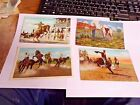 4 early Postcards Cowboys and Rodeo