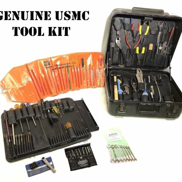 US MILITARY TUFF-TECH USMC COMMUNICATIONS ELECTRICIAN TOOL KIT 120+ TOOLS CASE 4