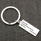 """Drive Safe I Need You"" Stamped Keychain Keyring Gift For Wife Boyfriend Husband"