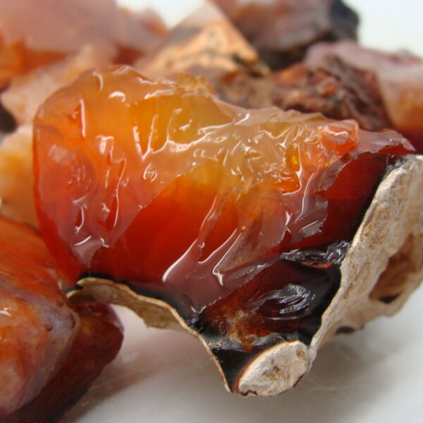 COLORFUL CARNELIAN -  Gemstone Rough Rock - Full 1 LB